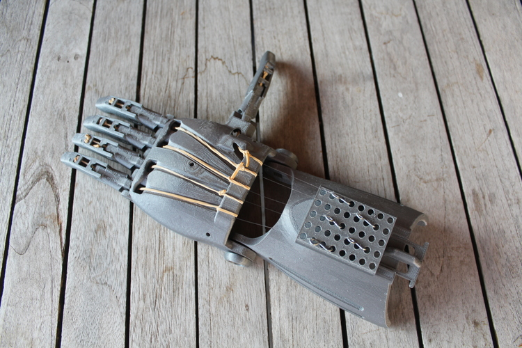 enable prosthetic hand with changeble finger positions 3D Print 100008