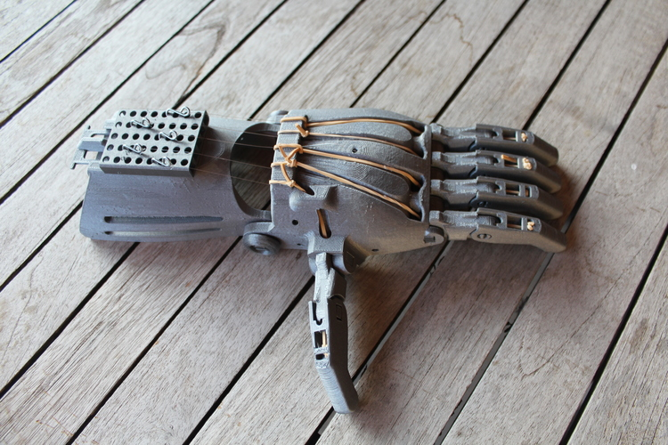 enable prosthetic hand with changeble finger positions 3D Print 100009