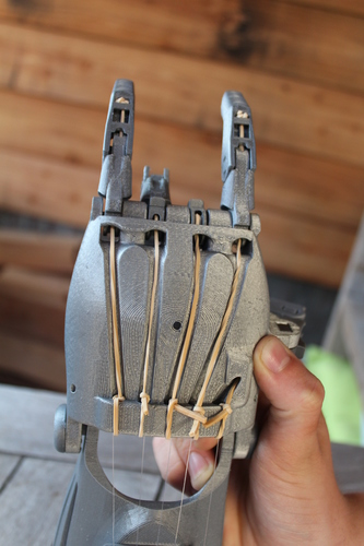 enable prosthetic hand with changeble finger positions 3D Print 100020