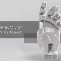 Small Ergonomic Prosthetic Hand 3D Printing 100023
