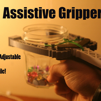 Small Versatile Assistive Grabber:  Highly Adjustable - Arm powered 3D Printing 100235