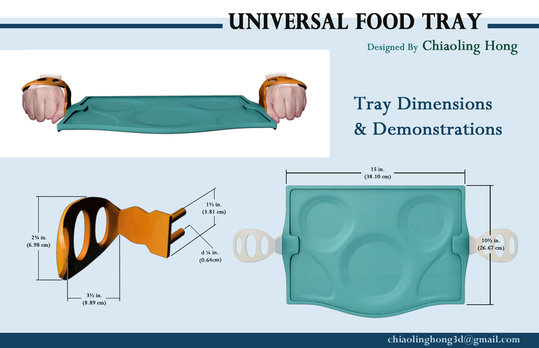 Universal Food Tray (Within Reach Design Competition) 3D Print 100284