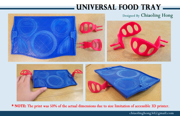Medium Universal Food Tray (Within Reach Design Competition) 3D Printing 100286