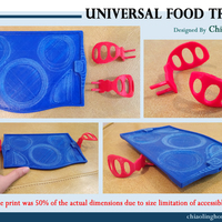 Small Universal Food Tray (Within Reach Design Competition) 3D Printing 100286