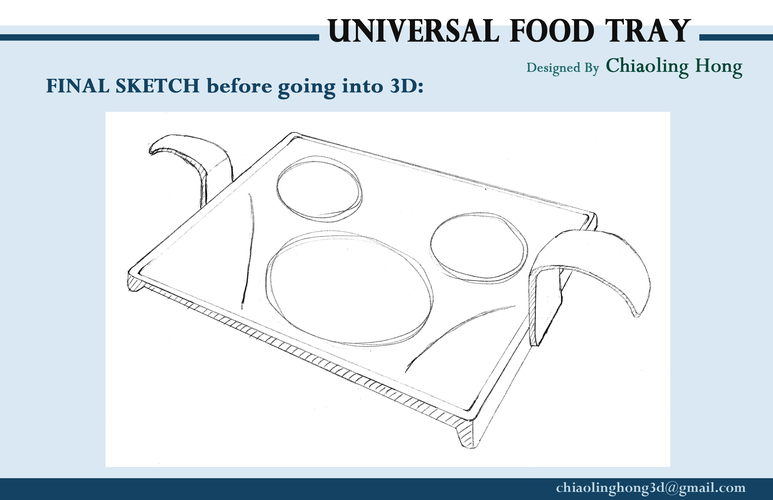 Universal Food Tray (Within Reach Design Competition) 3D Print 100287