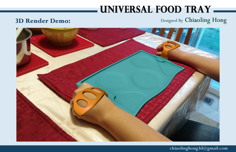 Universal Food Tray (Within Reach Design Competition) 3D Print 100288