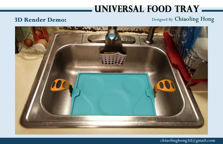 Universal Food Tray (Within Reach Design Competition) 3D Print 100289
