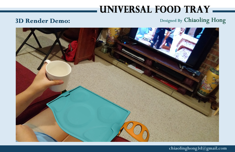Universal Food Tray (Within Reach Design Competition) 3D Print 100290