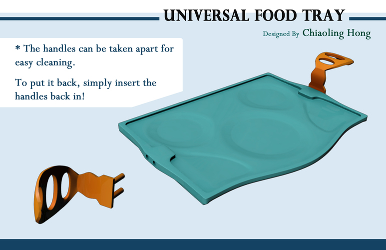 Universal Food Tray (Within Reach Design Competition) 3D Print 100291