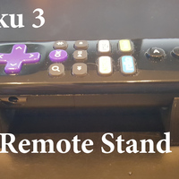 Small Remote Holder for Roku 3 3D Printing 100422