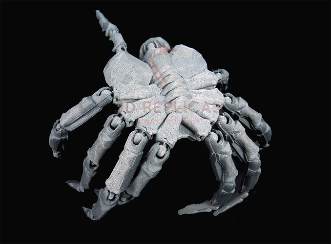 Articulated Facehugger 3D Print 100524
