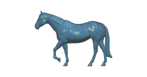 Medium Walking Horse 3D Printing 100623