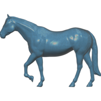 Small Walking Horse 3D Printing 100623