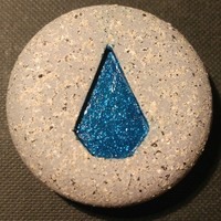 Small RuneScape Water Rune 3D Printing 100681
