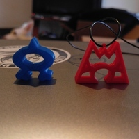 Small Team Aqua and Team Magma Necklaces 3D Printing 100696