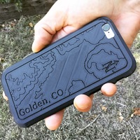Small Topographic iPhone Case - Golden, CO 3D Printing 100738