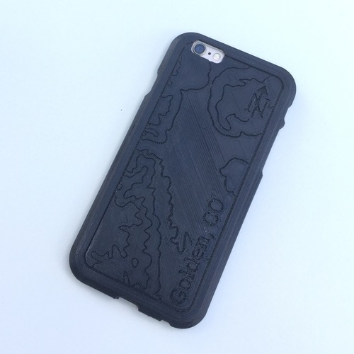 Topographic iPhone Case - Golden, CO 3D Print 100740
