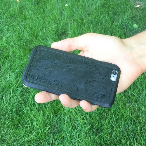 Topographic iPhone Case - Golden, CO 3D Print 100743
