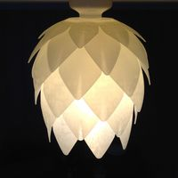 Small Pine Cone Lampshade 3D Printing 100767