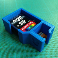 Small SD cards container 3D Printing 100783