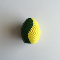 Small Ripple Vase (Dual Extrusion / 2 Color) 3D Printing 100854