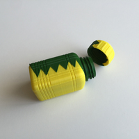Small ZigZag Bottle & Screw Cup (Dual Extrusion / 2 Color) 3D Printing 100856