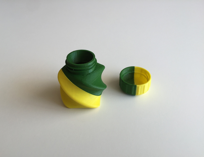 Twisted Bottle & Screw Cup (Dual Extrusion / 2 Color) 3D Print 100871