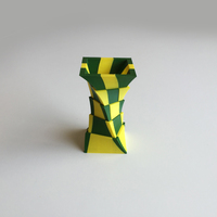 Small 2-Color Box Vase (Dual Extrusion) 3D Printing 100874
