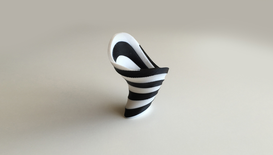 3D Printed Zebra Vase (Dual Extrusion / 2 Color) by David Mussaffi ...