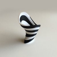 Small Zebra Vase (Dual Extrusion / 2 Color) 3D Printing 100887