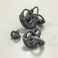 Small Modified Torus Knot 3D Printing 100912
