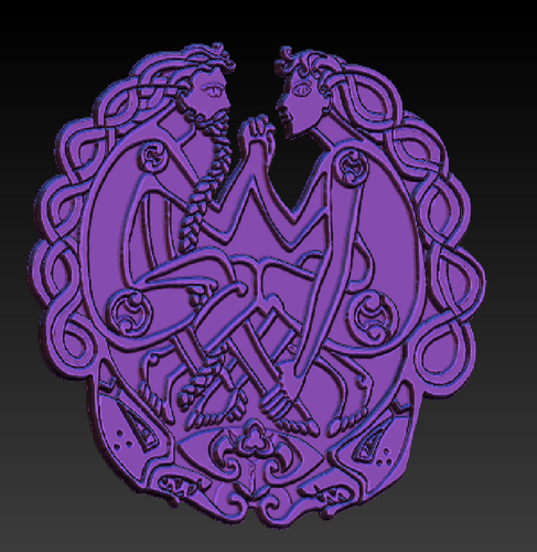 Celtic decoration. Styling 3D Print 100977