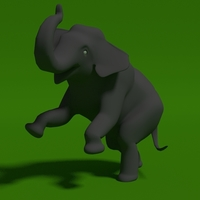 Small elephant thai 3D Printing 100998