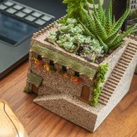 Small Mini Middle Eastern Villa Planter 3D Printing 101126