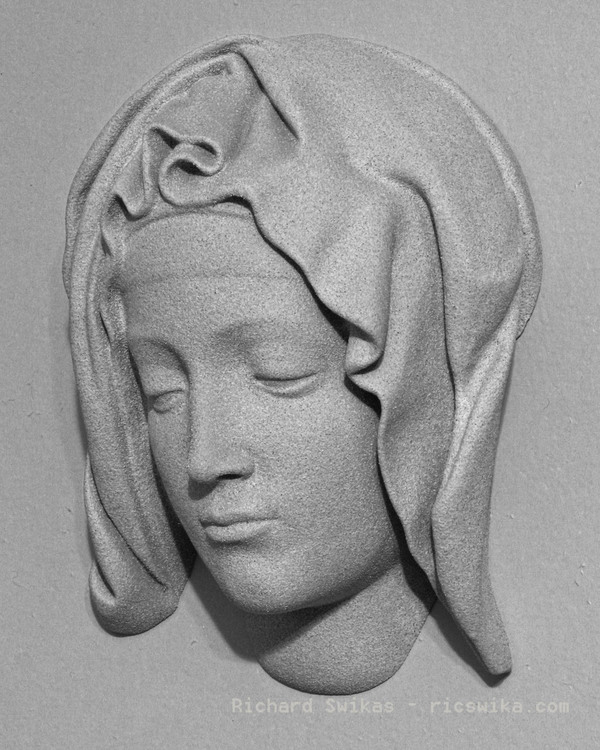 Medium Michelangelo's Pietà, detail of Mary 3D Printing 101157