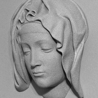 Small Michelangelo's Pietà, detail of Mary 3D Printing 101157