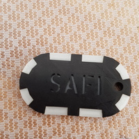 Small Keychain 2 color 3D Printing 101204
