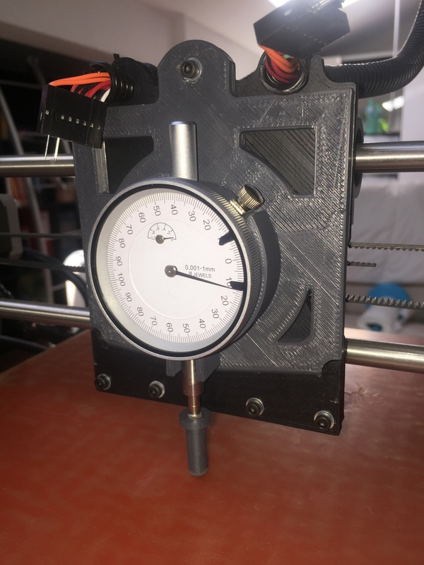 Medium Dial gauge support for Lulzbot Taz 5 3D Printing 101223