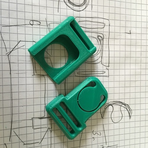 Centre (Center) Release Buckle   3D Print 101233