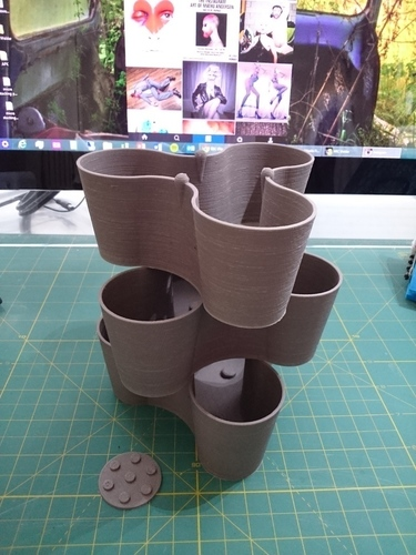 Micro-sized Stacking Pot for Indoor Plants 3D Print 101296