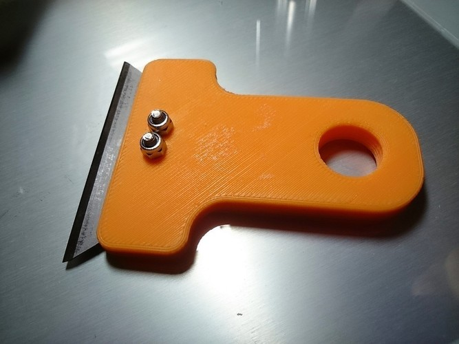 Scraper using disposable Stanley knife blades  3D Print 101306