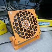 Small Mini Desk/Wall Fan with Ratcheting Angle    3D Printing 101330