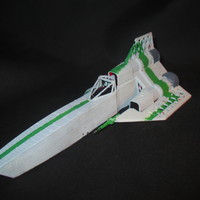 Small Colonial Viper Mk1 / Battle-star Galactica 3D Printing 101344