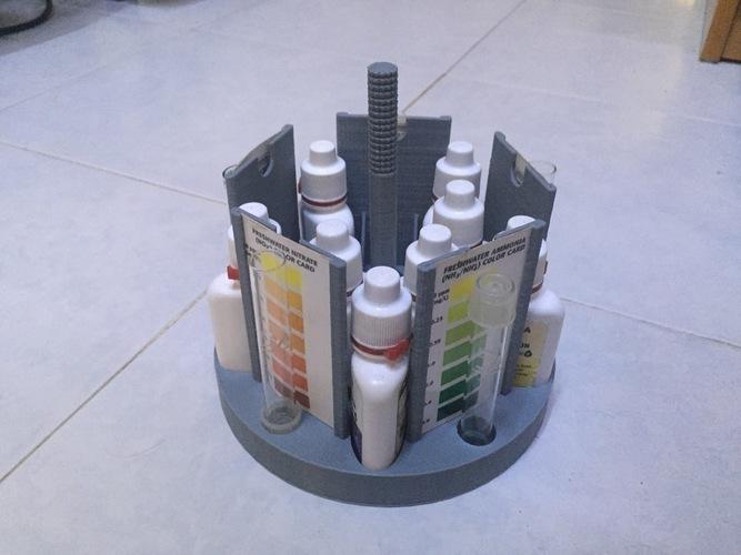 3D Printed Test Kit Holder (Aquaponics/Aquarium etc) by