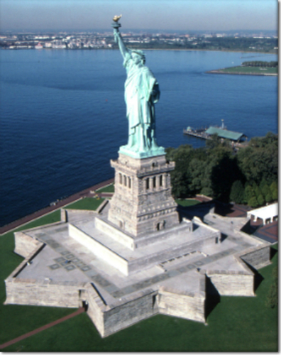 Fort Wood Plinth for Statue of Liberty & Base Building (included 3D Print 101370