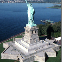 Small Fort Wood Plinth for Statue of Liberty & Base Building (included 3D Printing 101370