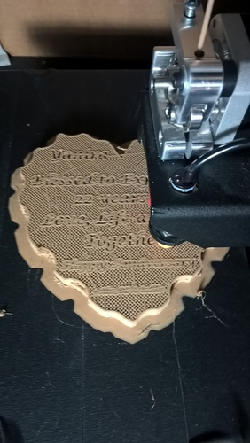 Heart base (without engraving) 3D Print 101387