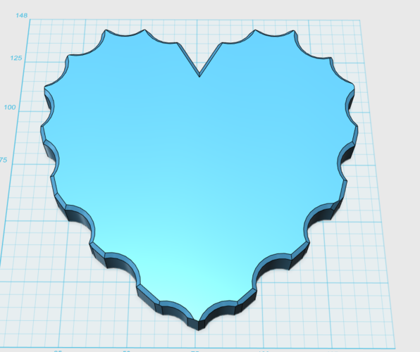 Heart base (without engraving) 3D Print 101394