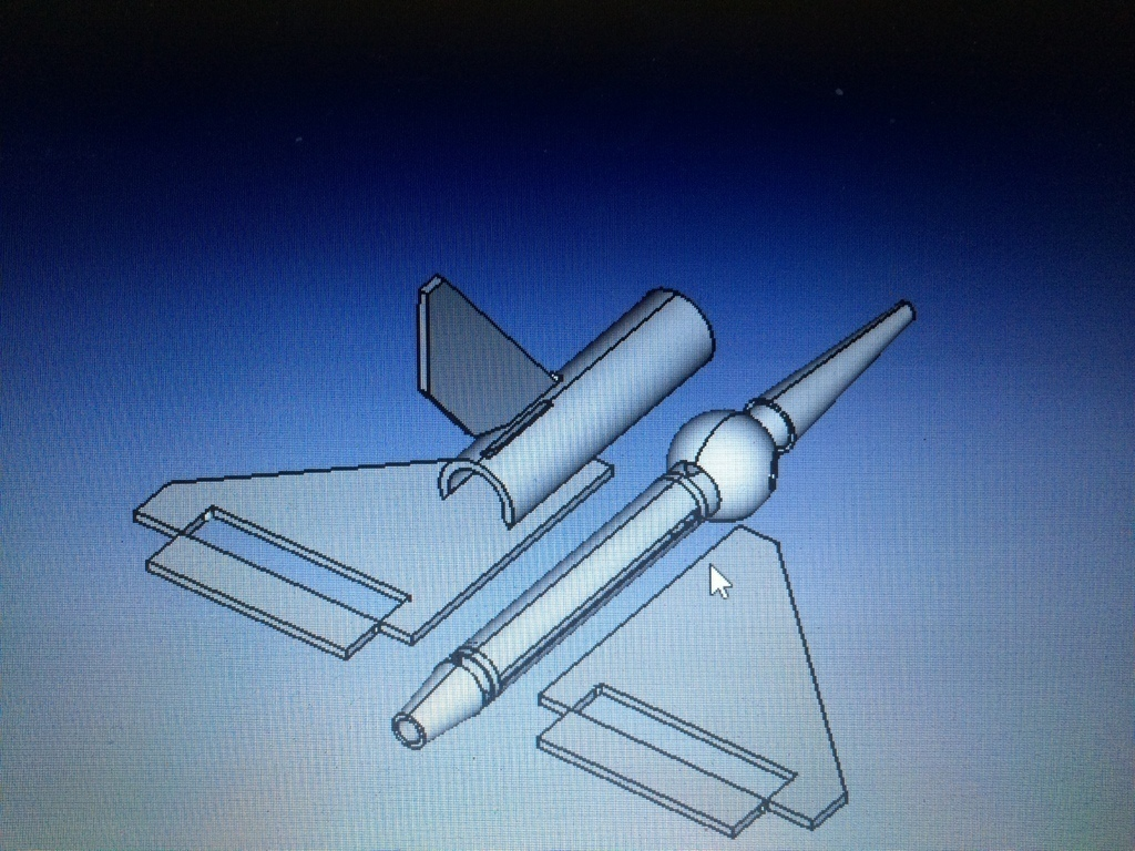 3D Printed Delta Rocket - RC Glider or EDF Jet by George