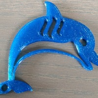Small Steemit Keychain - Dolphin 3D Printing 101474
